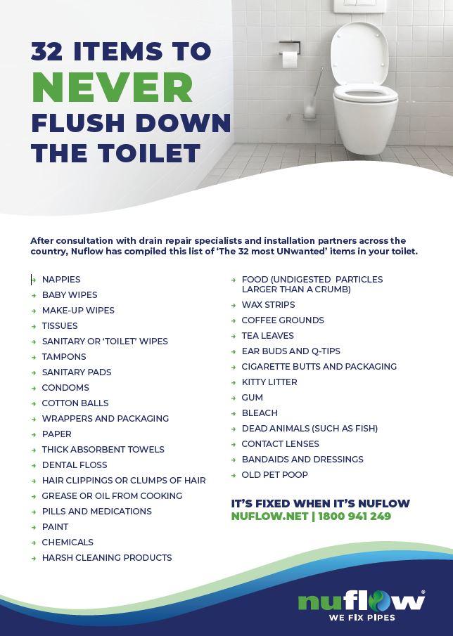 Do Not Flush Down Toilet