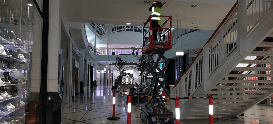 Nuflow repairing a fire service system at Cairns Central Shopping Centre